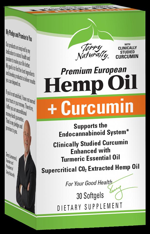 Premium European Hemp Oil + Curcumin Dietary Supplement | The