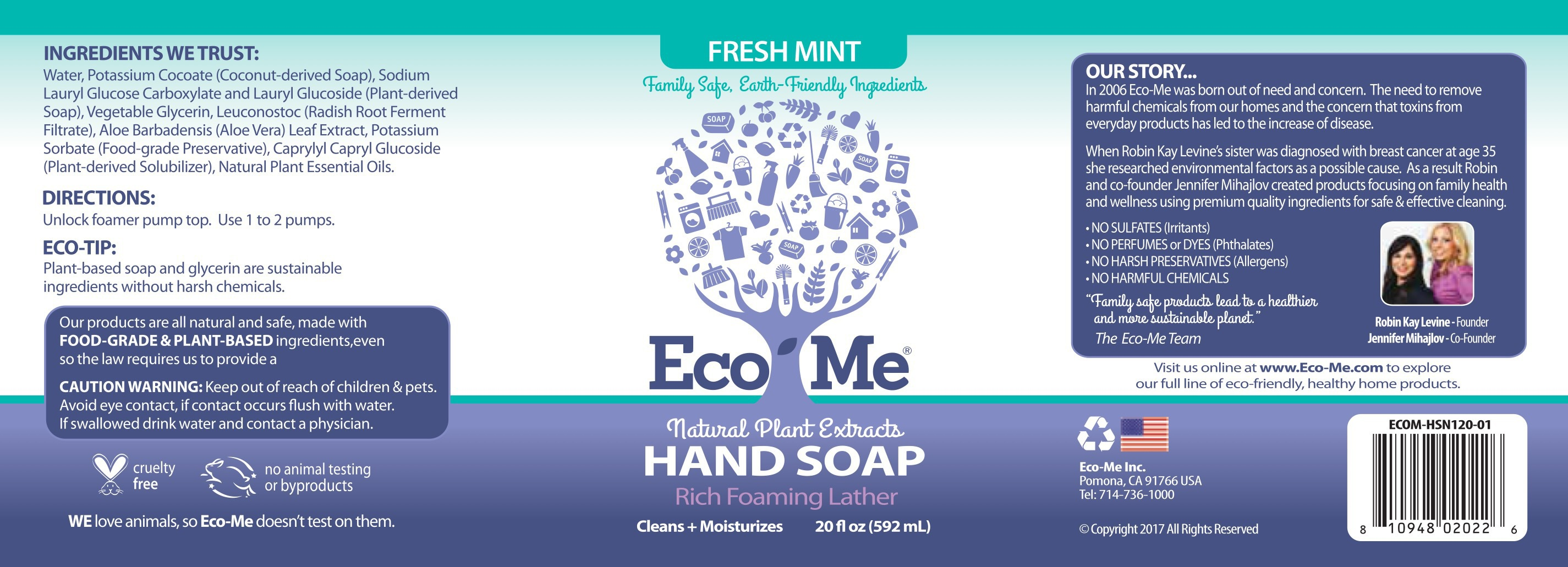 Hand Soap, Fresh Mint | The Natural Products Brands Directory