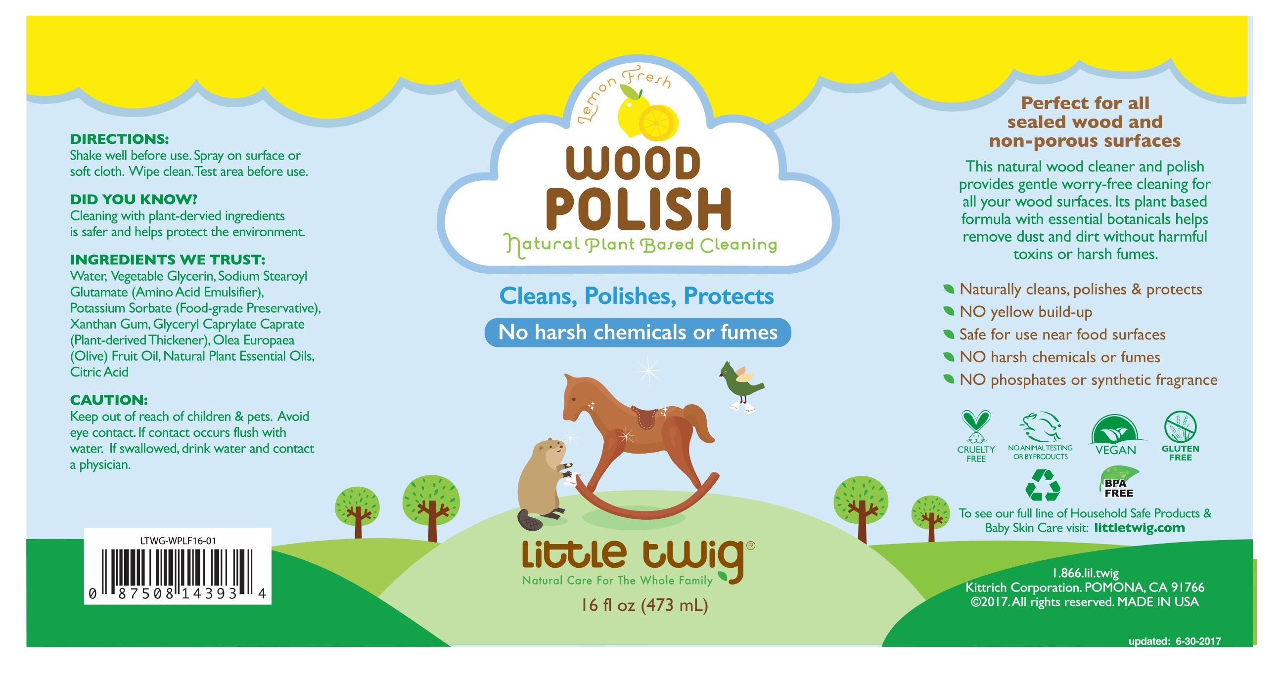 Wood Polish, Lemon Fresh | The Natural Products Brands Directory