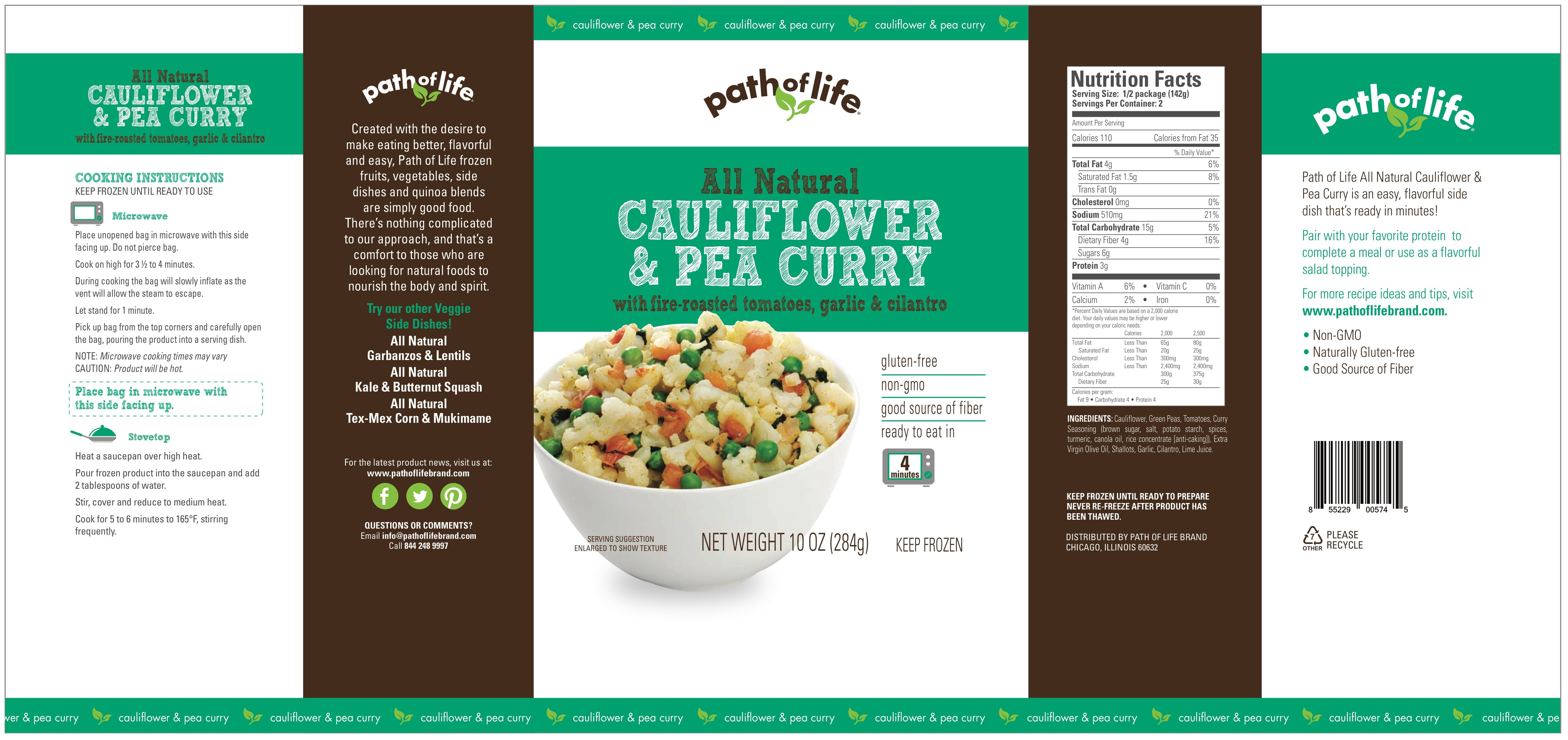 All natural cauliflower pea curry frozen food frozen dinners all natural cauliflower pea curry all natural cauliflower pea curry forumfinder Image collections