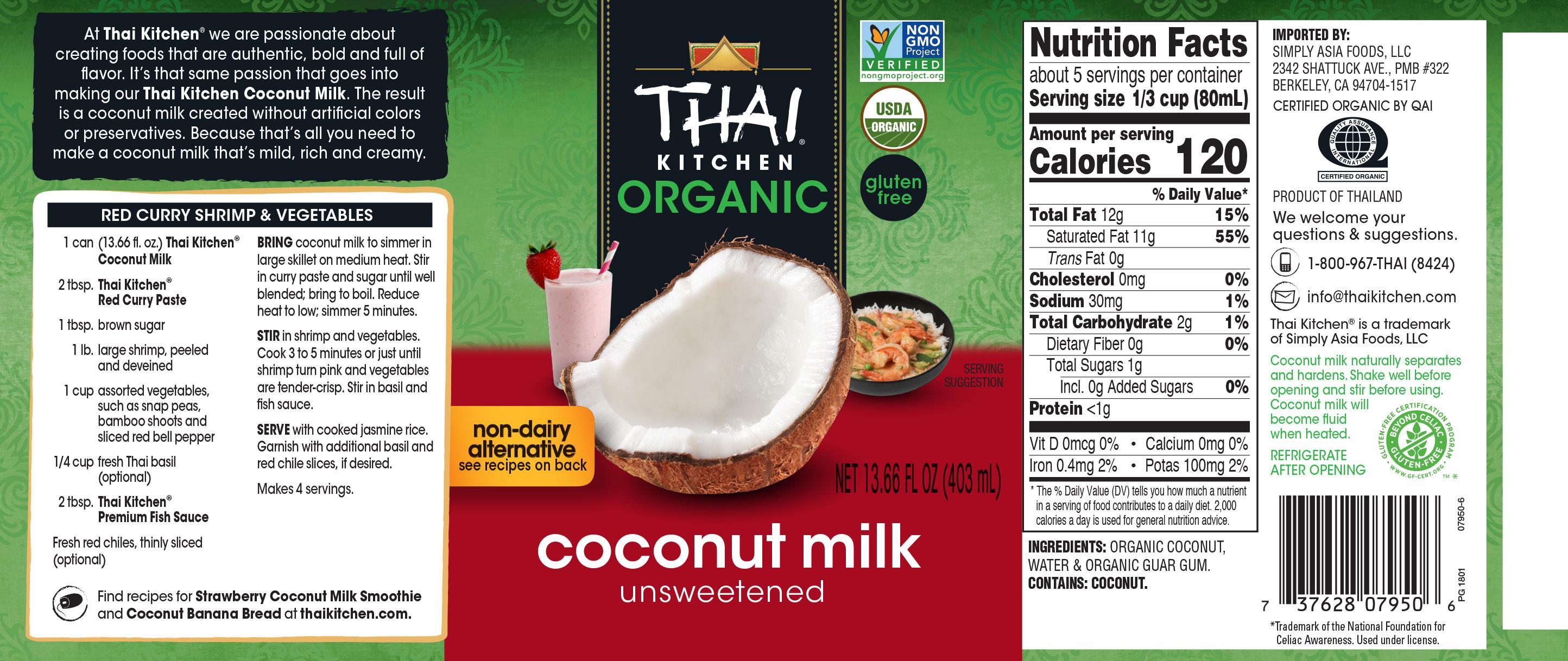 Organic Coconut Milk Organic Coconut Milk