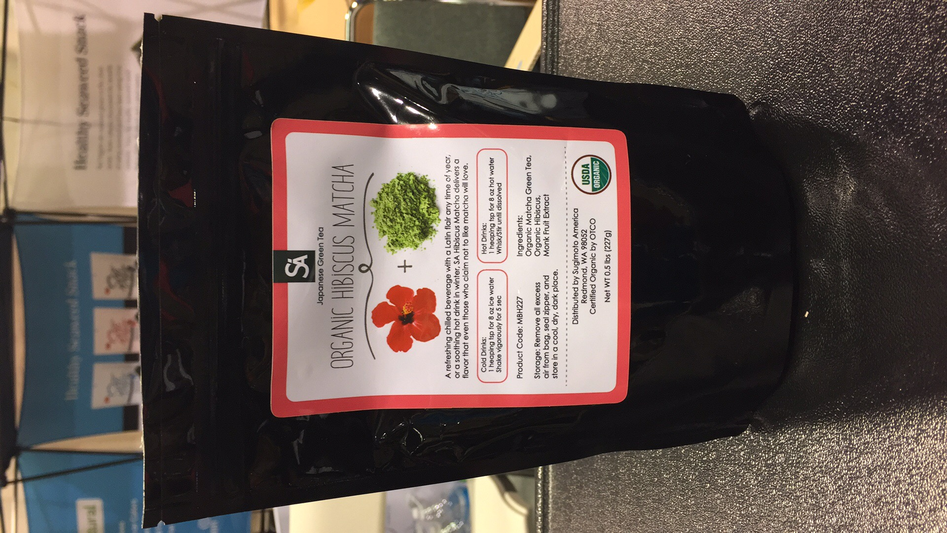 Organic Hibiscus Matcha The Natural Products Brands Directory