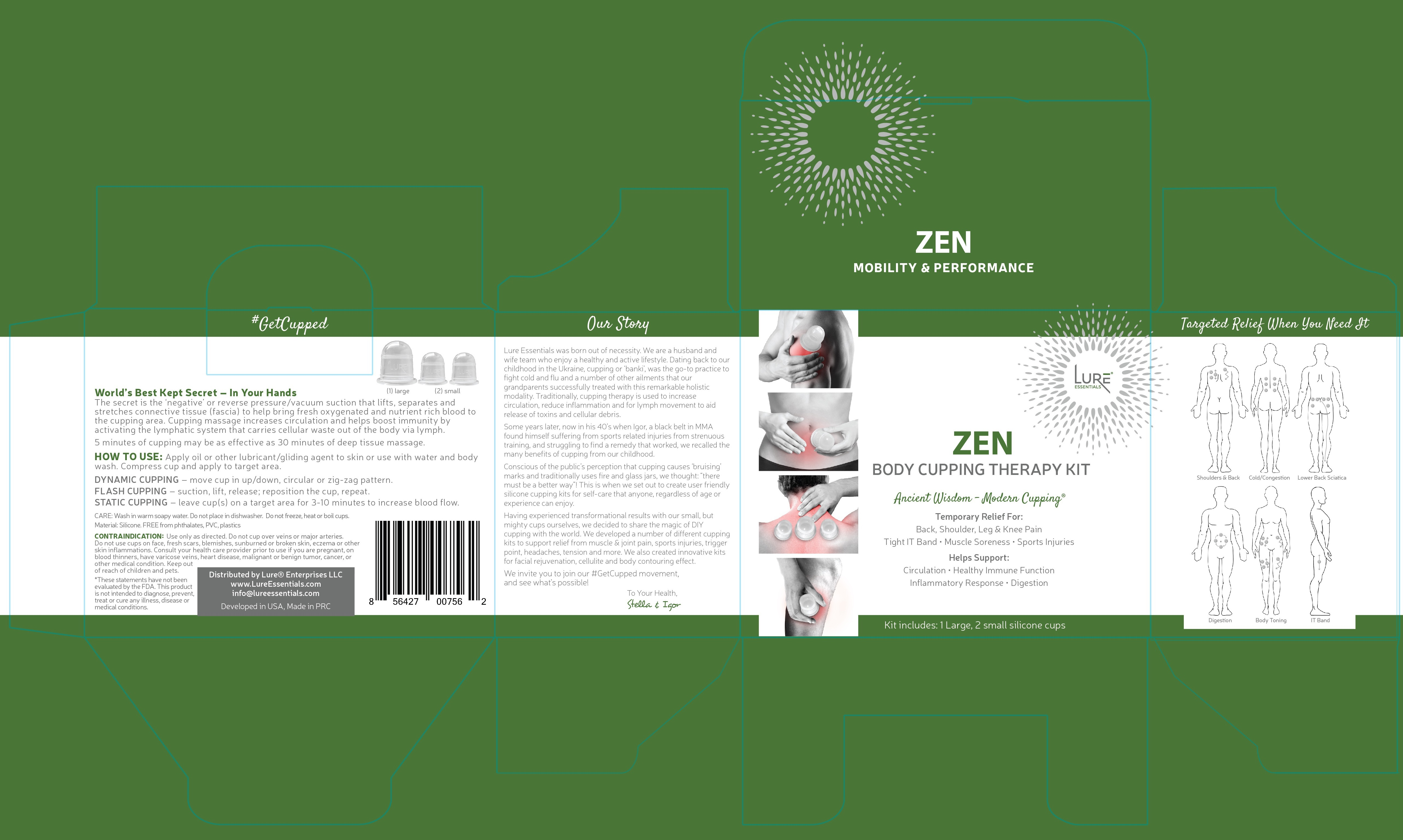 Zen Body Cupping Therapy Kit | The Natural Products Brands
