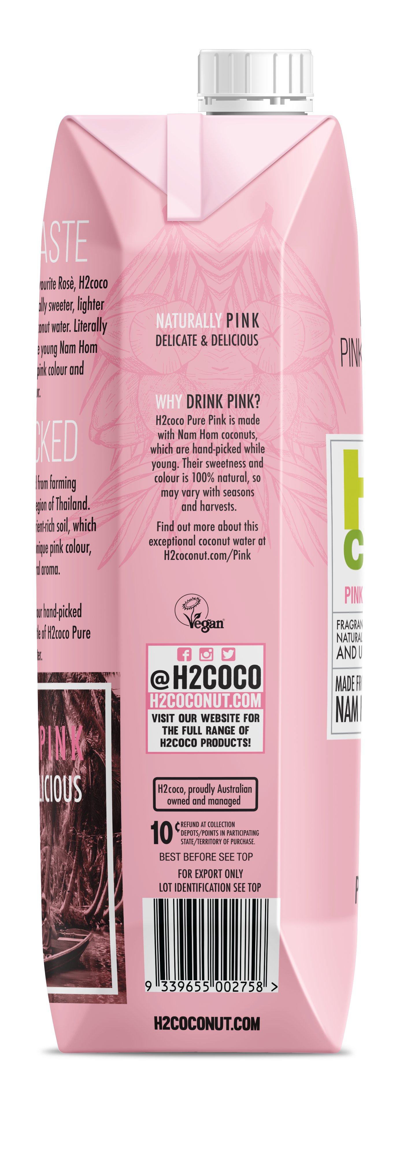 1c01e4b962 PURE PINK COCONUT WATER   The Natural Products Brands Directory
