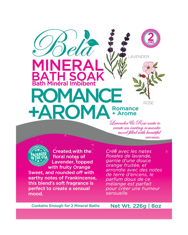 Melange Orange Et Rose romance + aroma mineral bath soak, lavender + rose | the