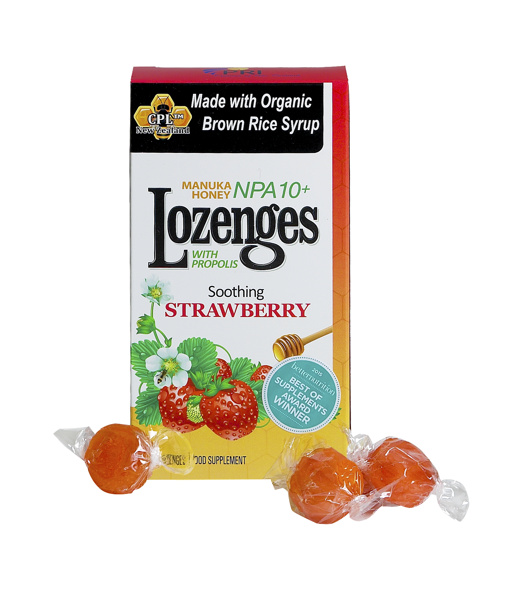 STRAWBERRY MANUKA HONEY LOZENGES WITH PROPOLIS FOOD SUPPLEMENT | The