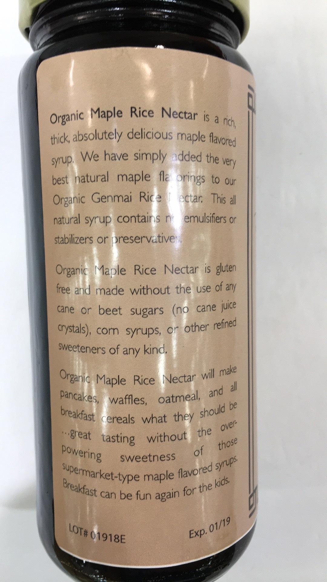 Organic Rice Nectar Maple Natural Rice Syrup | The Natural
