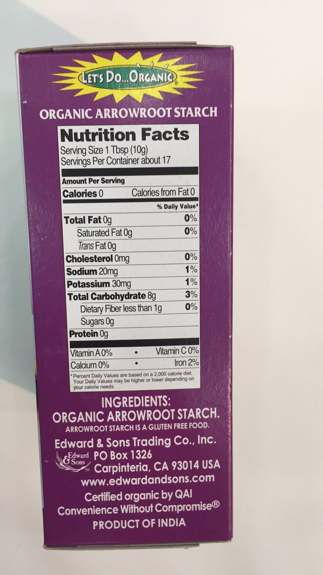 Organic Arrowroot Starch (powder) Organic Arrowroot Starch (powder) ...