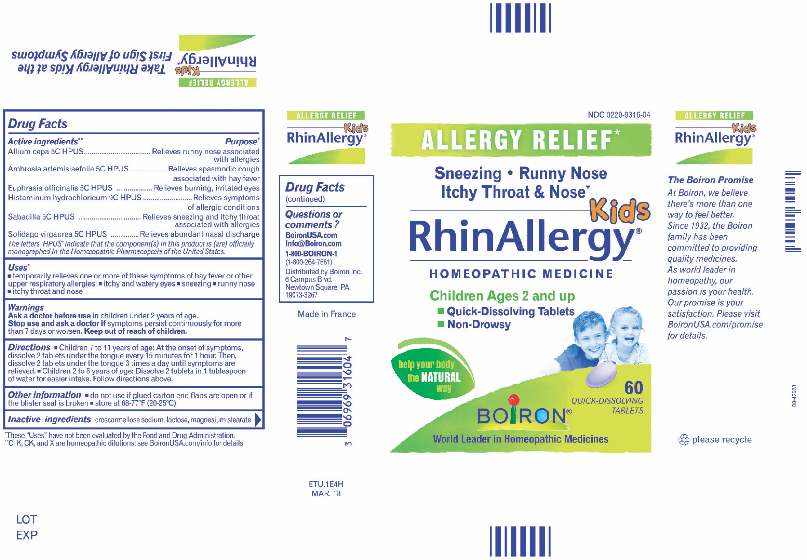 Kids Rhinallergy Homeopathic Medicine | The Natural Products Brands