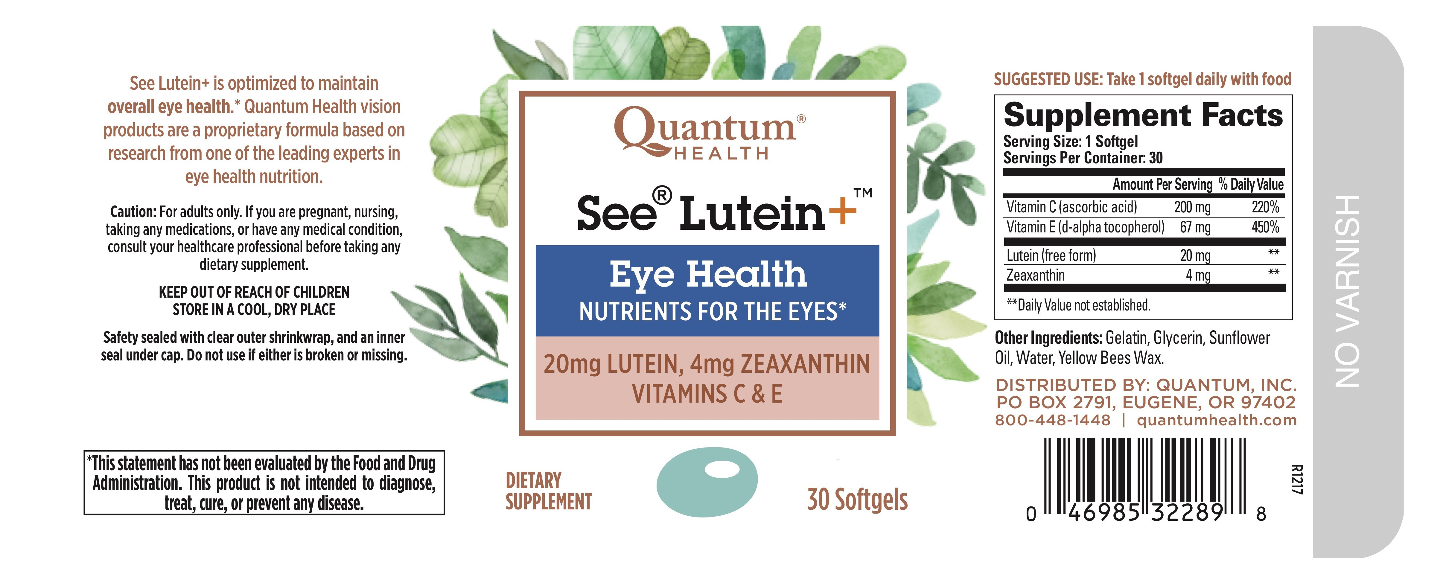 Eye Health Dietary Supplement   The Natural Products Brands Directory