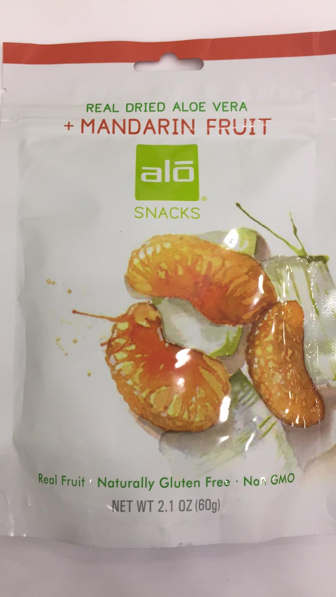 Real Dried Aloe Vera + Mandarin Fruit Snack | The Natural