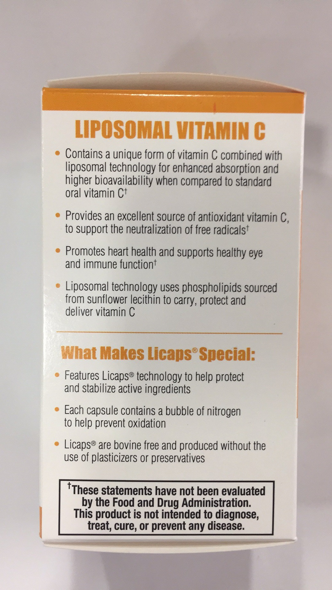 Liposomal Vitamin C Dietary Supplement | The Natural Products Brands
