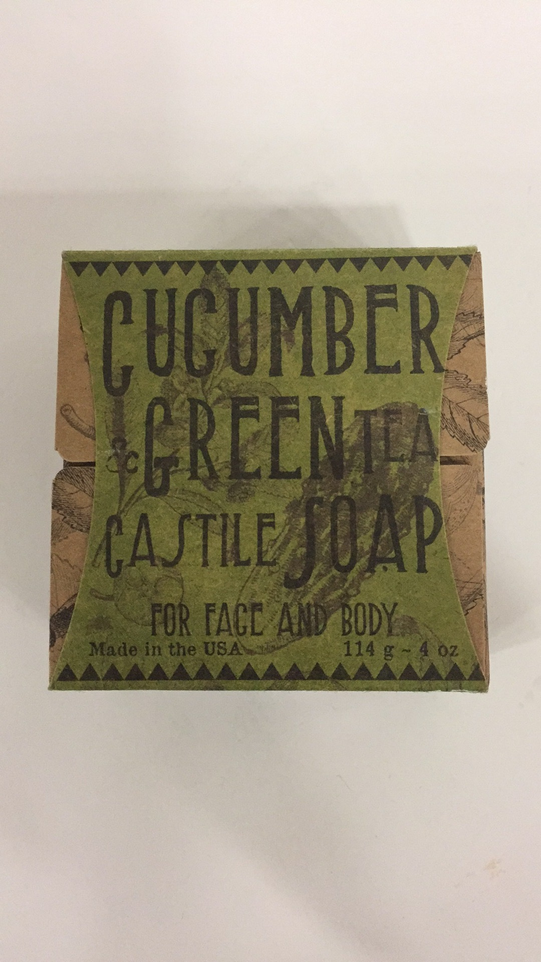 Cucumber & Green Tea Castile Soap For Face And Body | The