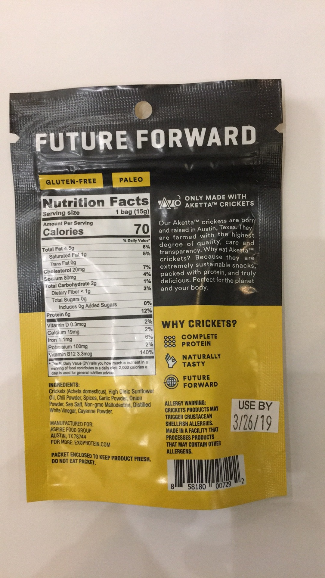 Whole Roasted Crickets   The Natural Products Brands Directory