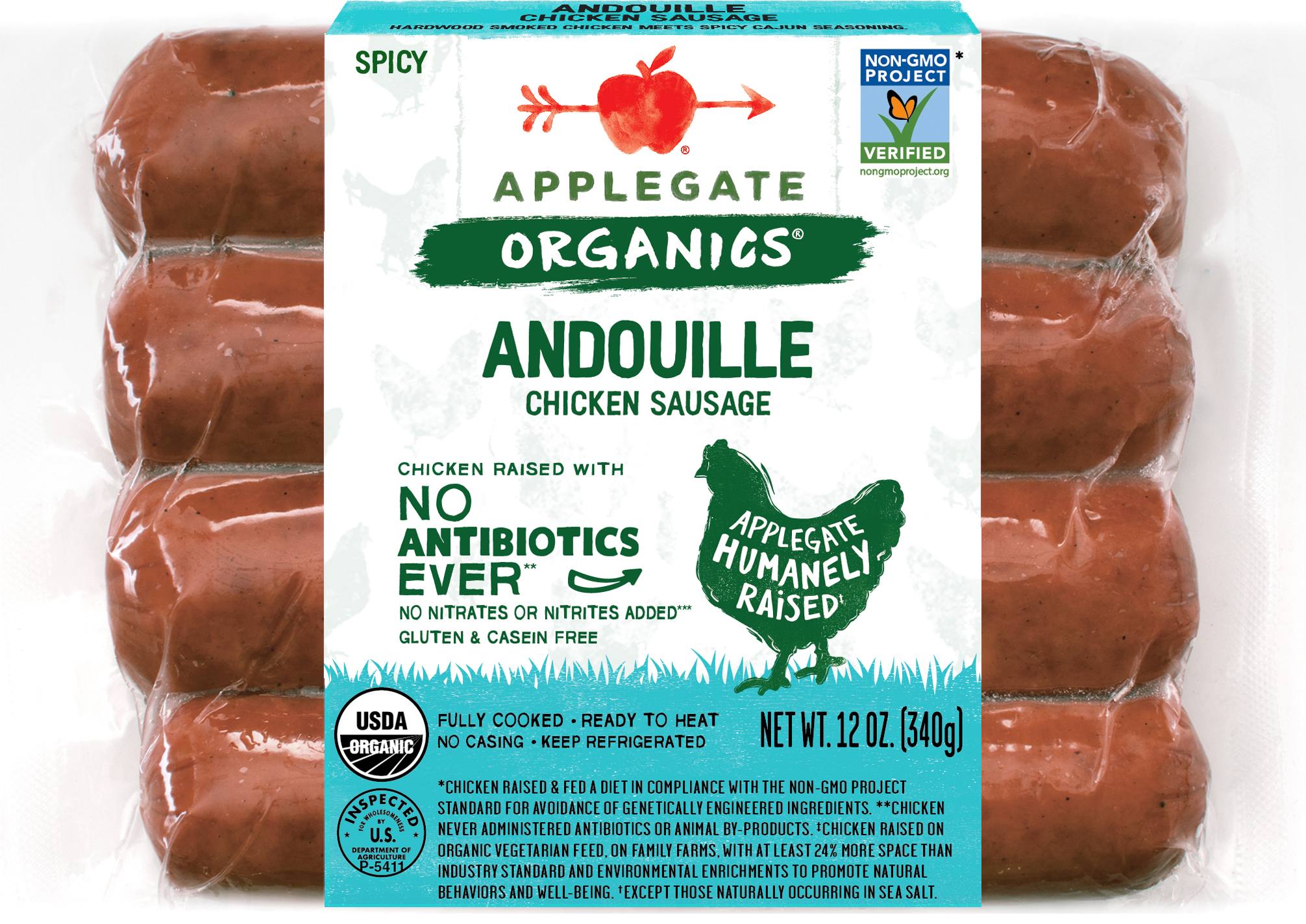 SPICY ANDOUILLE CHICKEN SAUSAGE | The Natural Products