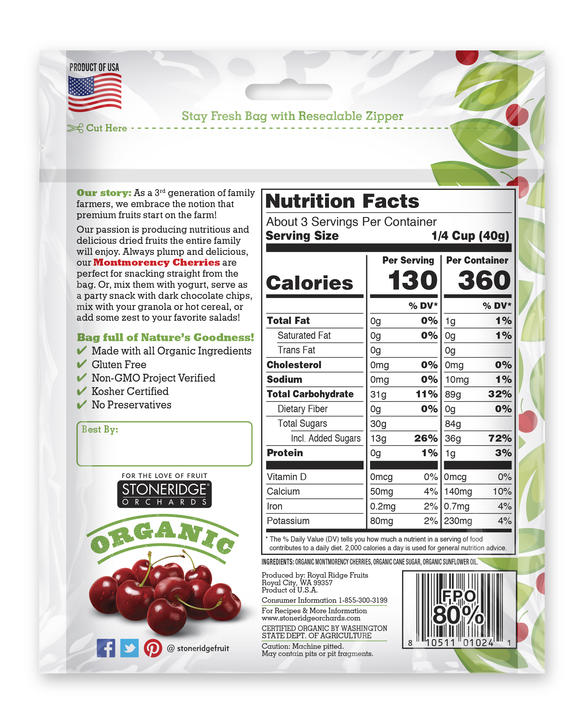 ORGANIC MONTMORENCY CHERRIES | The Natural Products Brands