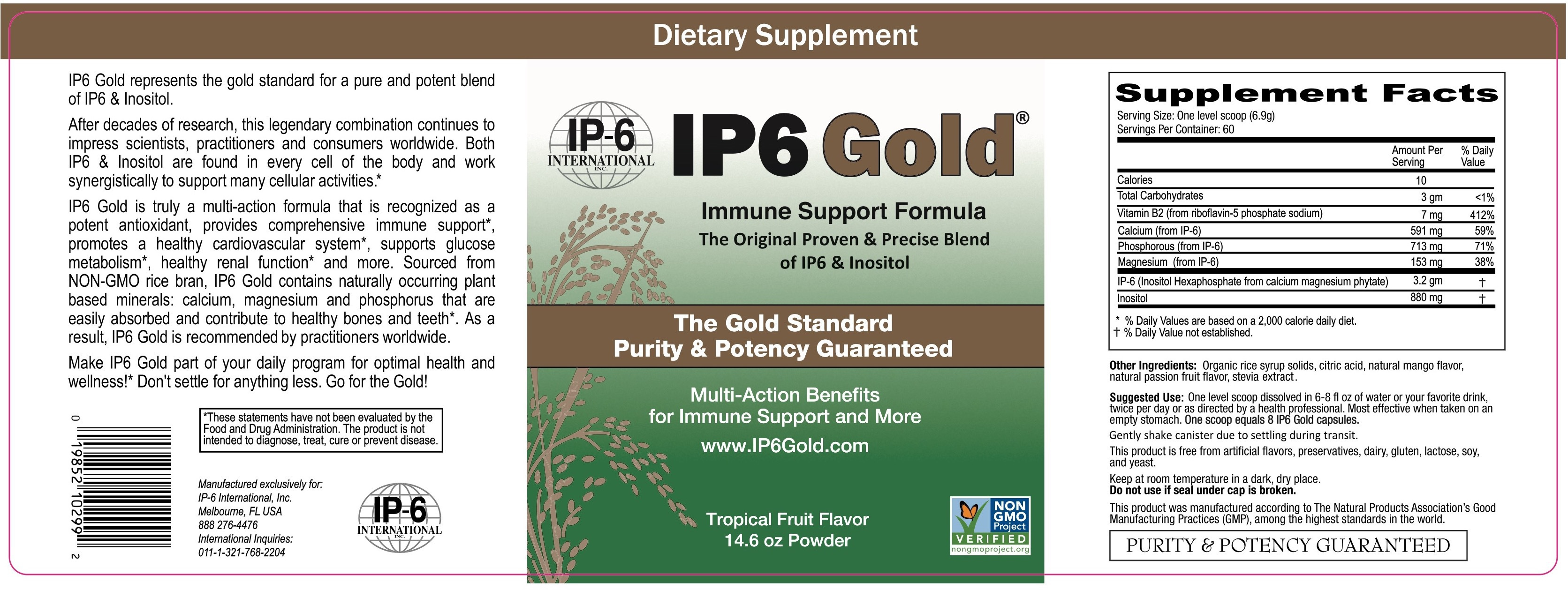 IMMUNE SUPPORT FORMULA DIETARY SUPPLEMENT POWDER, TROPICAL