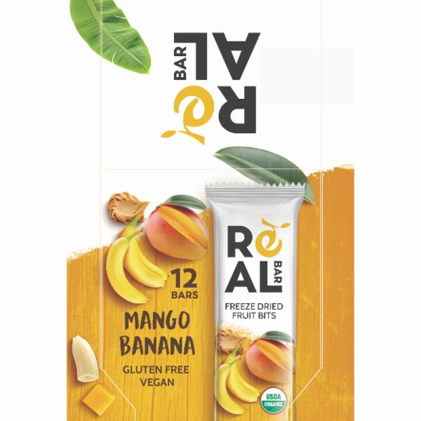 MANGO BANANA FREEZE DRIED FRUIT BITS BARS | The Natural