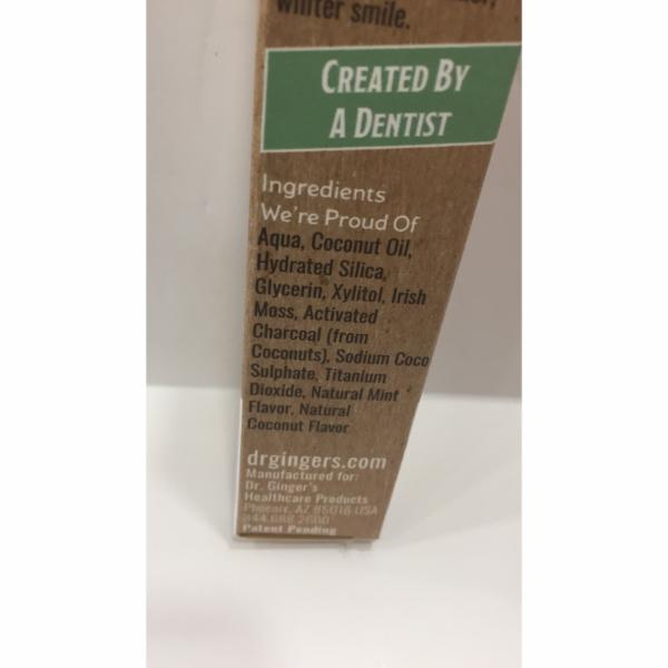 COCONUT OIL TOOTHPASTE WITH WHITE CHARCOAL, COCONUT MINT