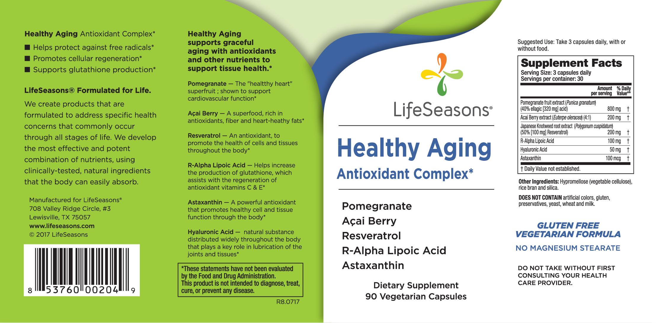 Healthy Aging Antioxidant Complex Vegetarian Capsules