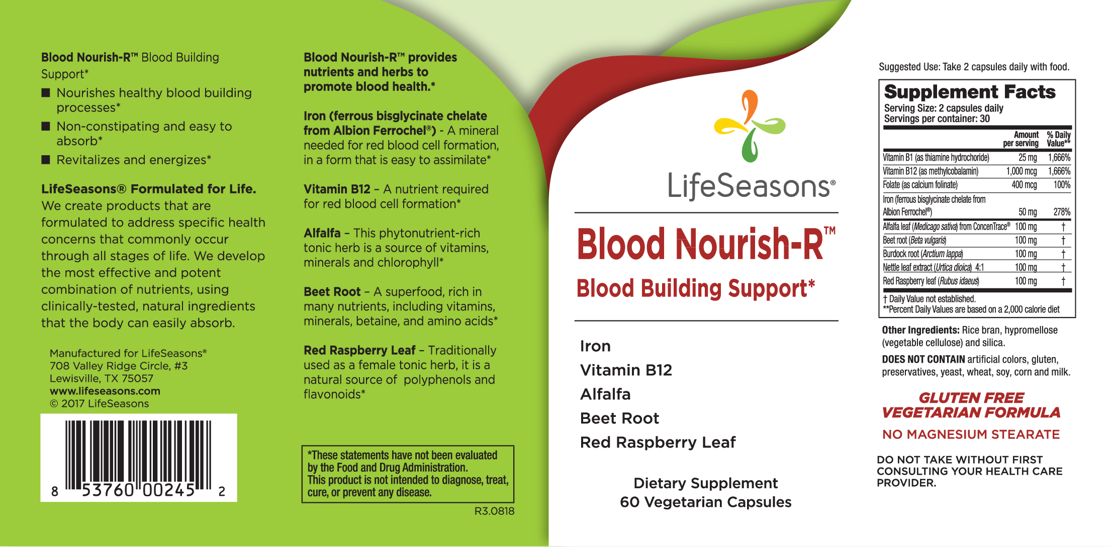 Blood Nourish-r Blood Building Support Dietary Supplement | The