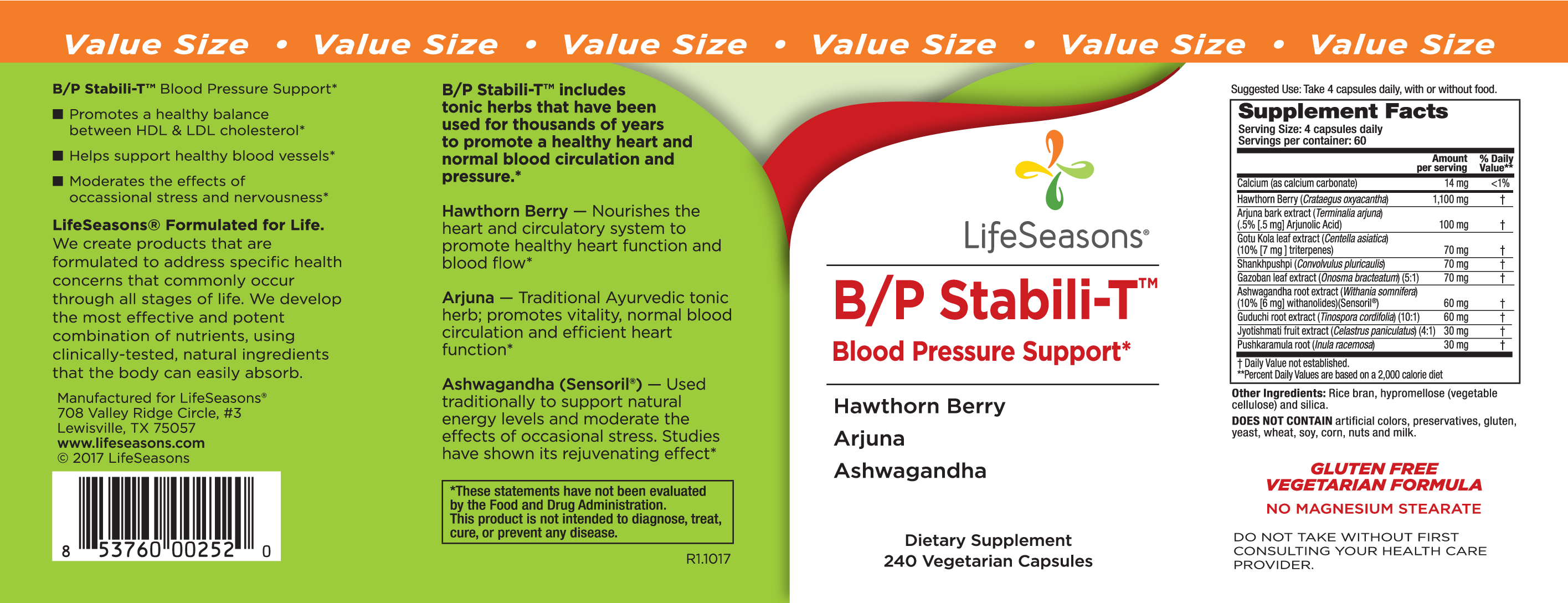 B/p Stabili-t Blood Pressure Support Dietary Supplement | The
