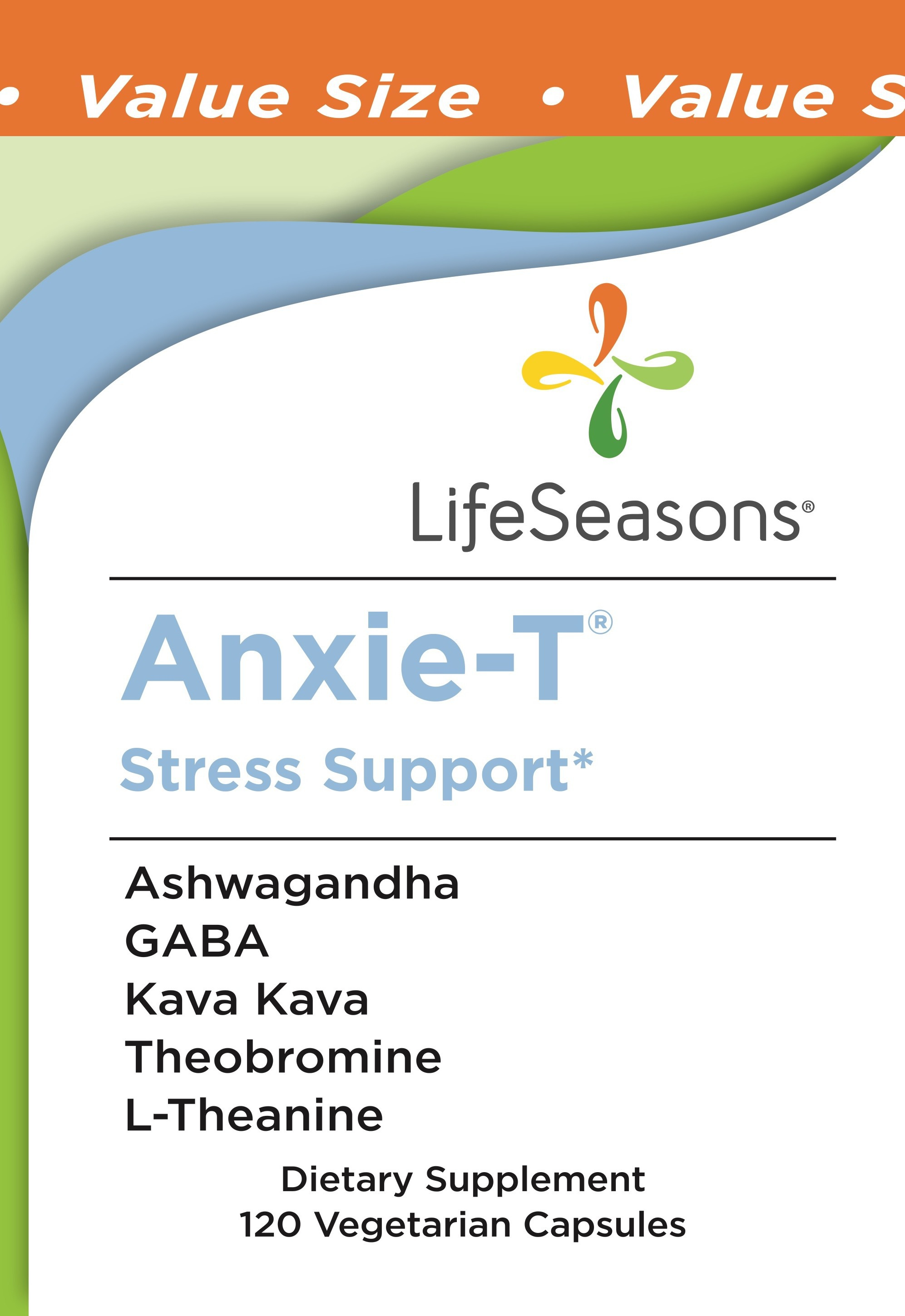 Anxie-t Stress Support Dietary Supplement Vegetarian Capsules | The