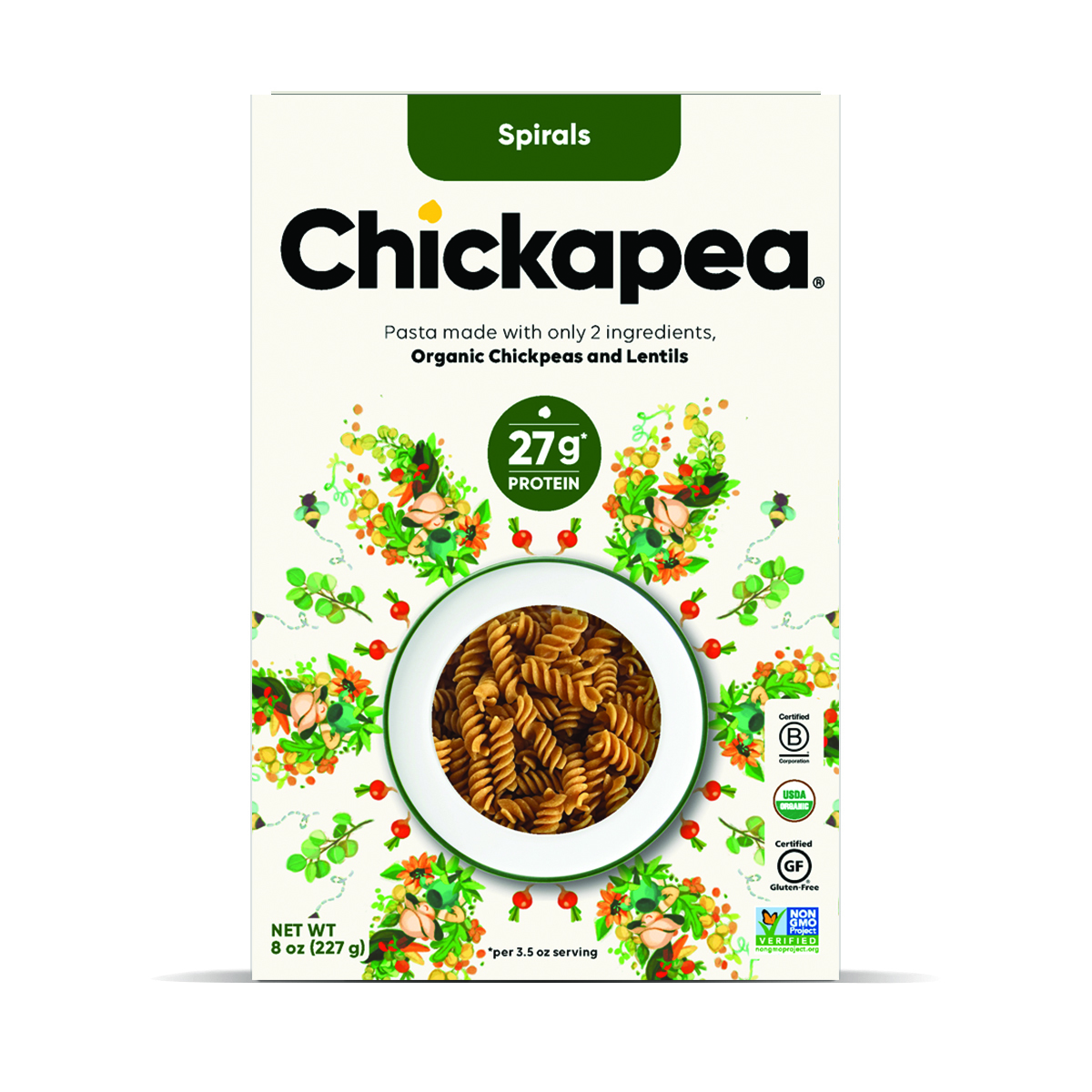 ORGANIC CHICKPEAS AND LENTILS SPIRALS | The Natural Products