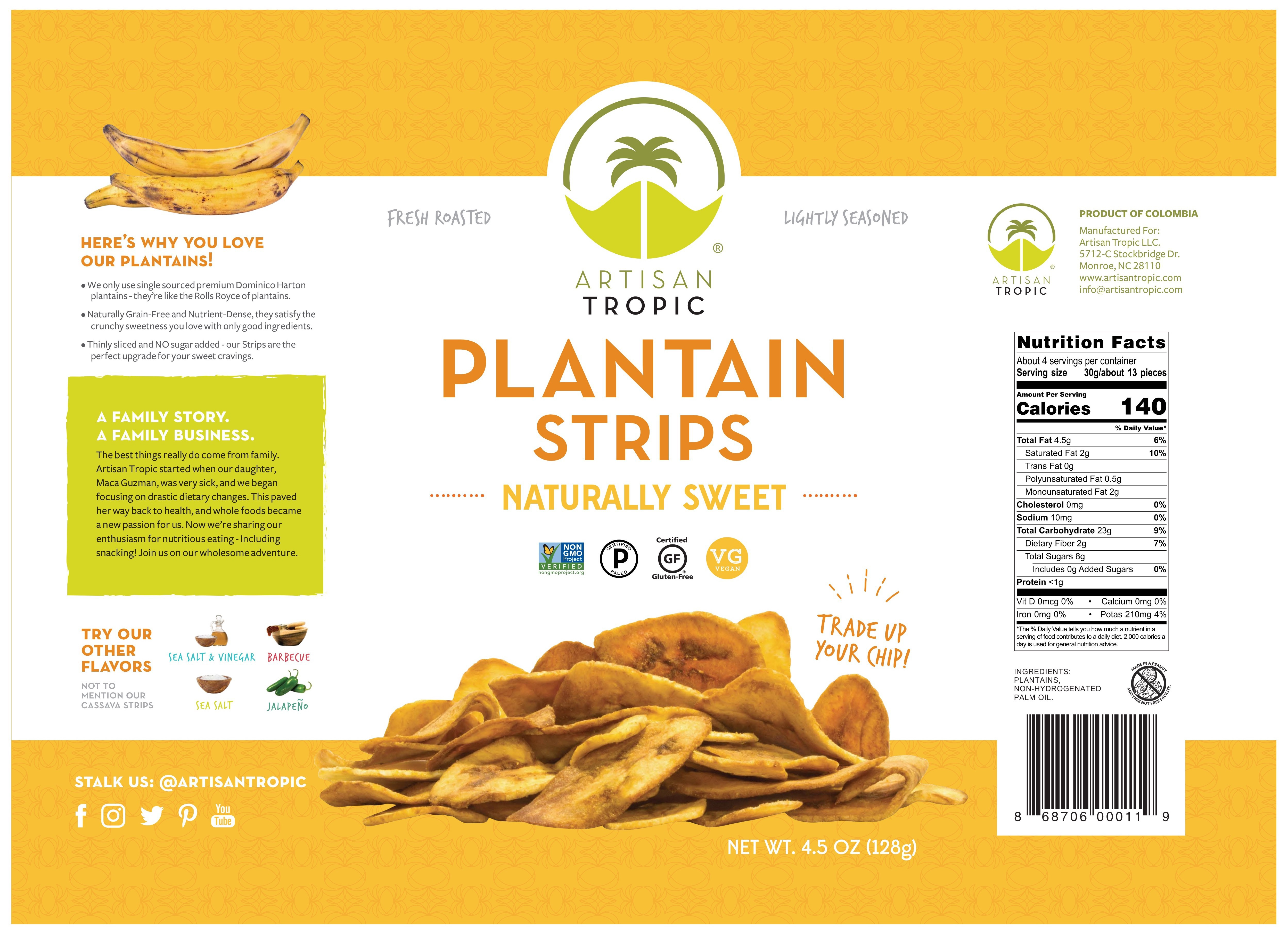 Naturally Sweet Plantain Strips   The Natural Products