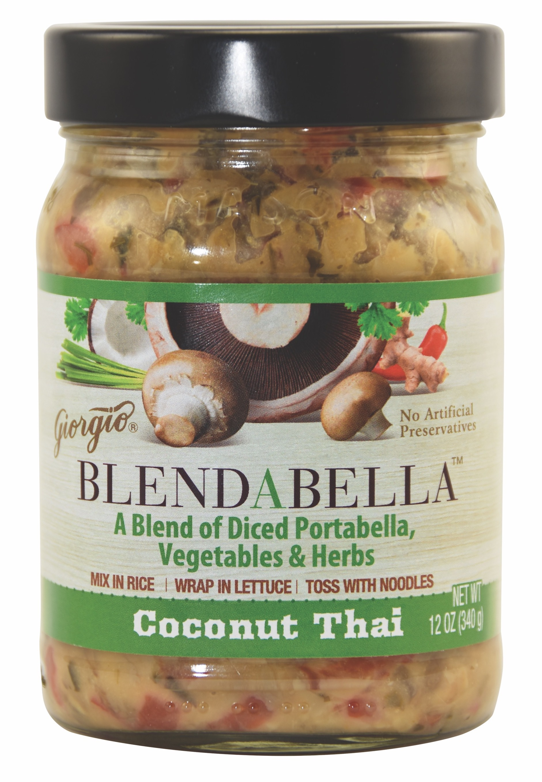 Coconut Thai A Blend Of Diced Portabella, Vegetables & Herbs | The