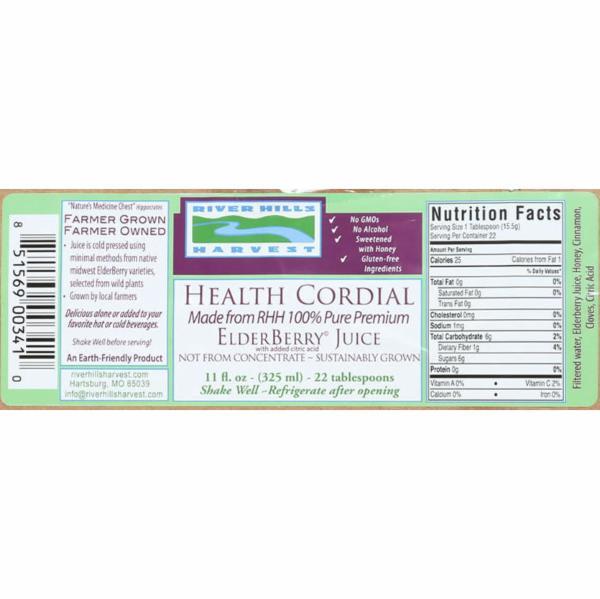 HEALTH CORDIAL 100% PURE PREMIUM ELDERBERRY JUICE | The Natural