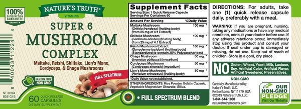 full spectrum super 6 mushroom complex maitake reishi