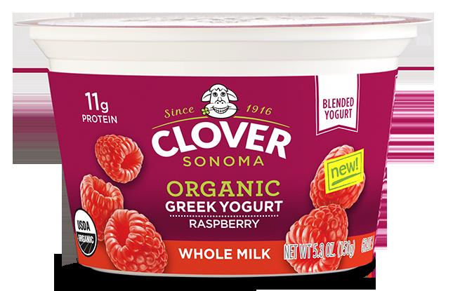 Organic Whole Milk  Greek Yogurt - Raspberry