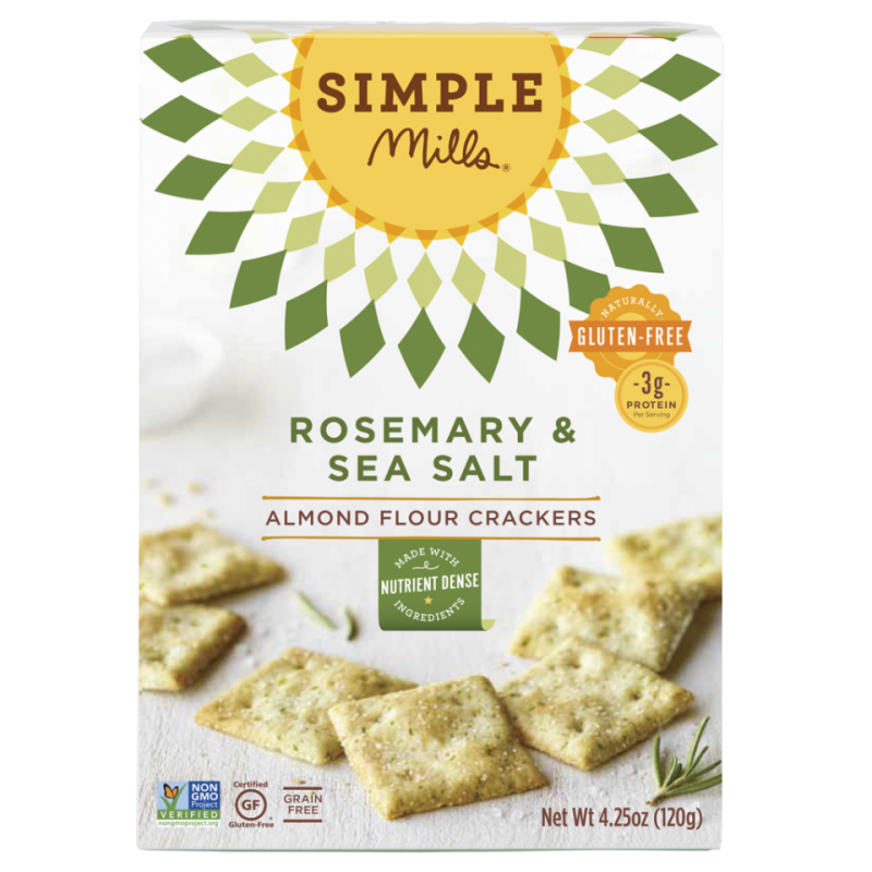 Rosemary & Sea Salt Almond Flour Crackers