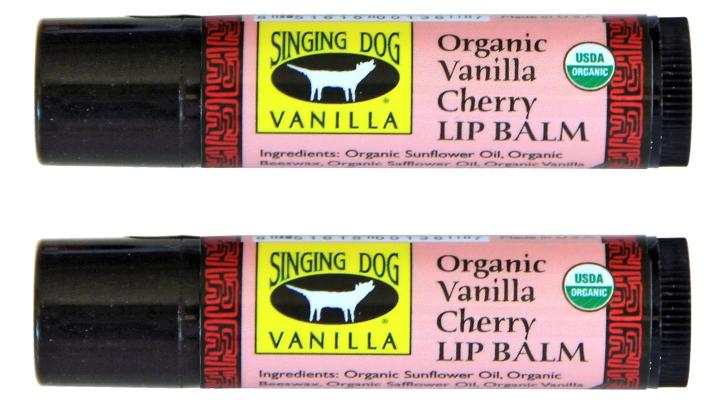 Organic Vanilla Cherry Lip Balm