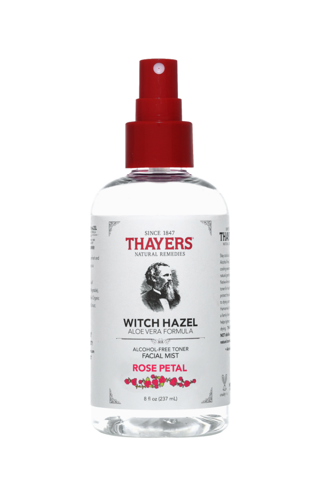 Witch Hazel Aloe Vera Facial Mist Formula, Rose Petal