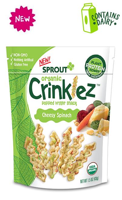 Cheesy Spinach Crinklez