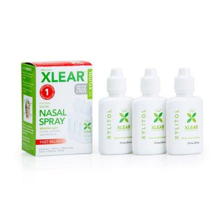 Xylitol and Saline Nasal Spray - .75fl oz (3 PACK)