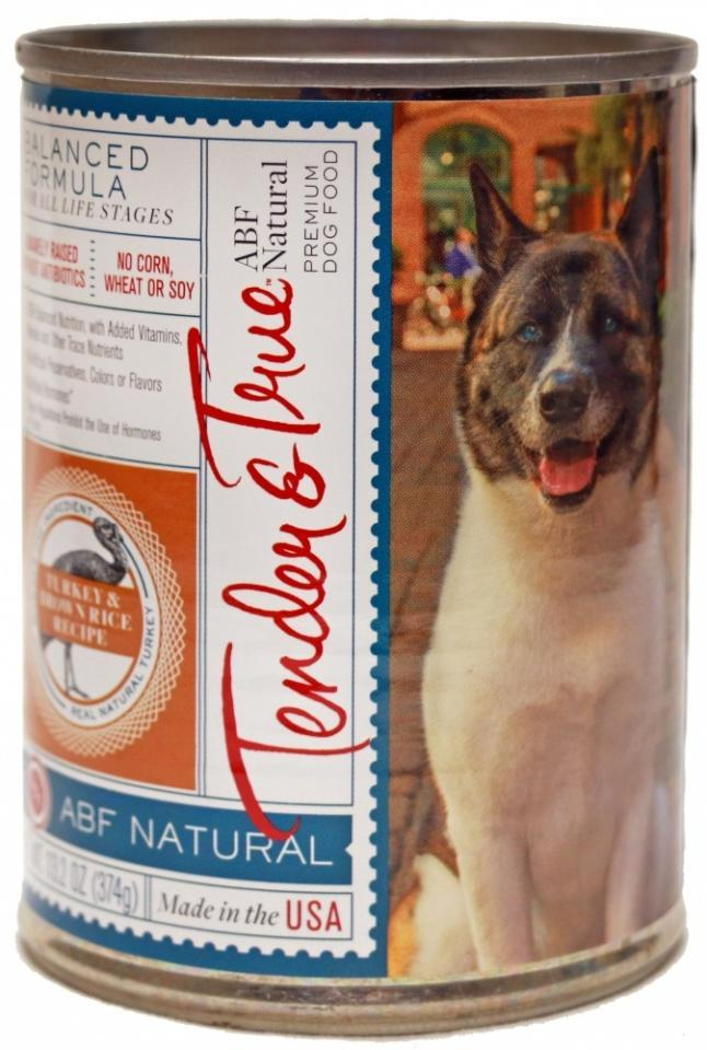 Antibiotic-Free Turkey and Brown Rice Canned Dog Food