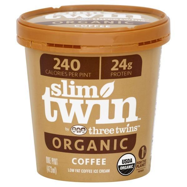 Slim Twin Organic Low Fat Coffee Ice Cream