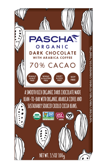 70% CACAO WITH COFFEE 3.5 OZ CHOCOLATE BAR