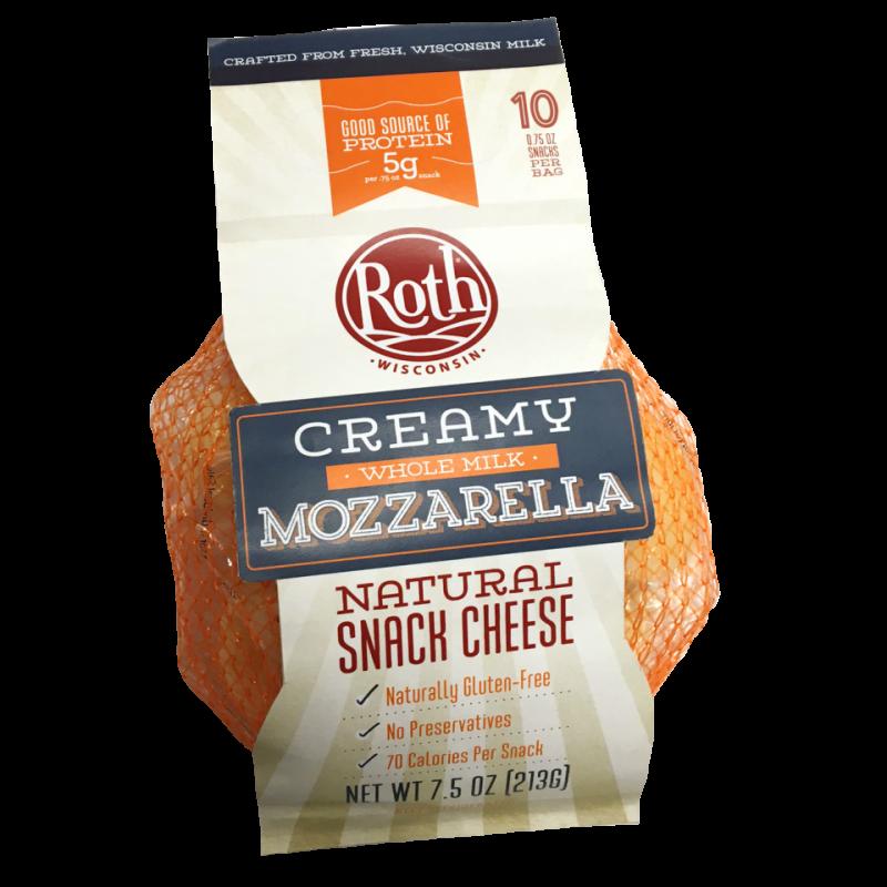 Creamy Whole Milk Mozzarella Snack Cheese