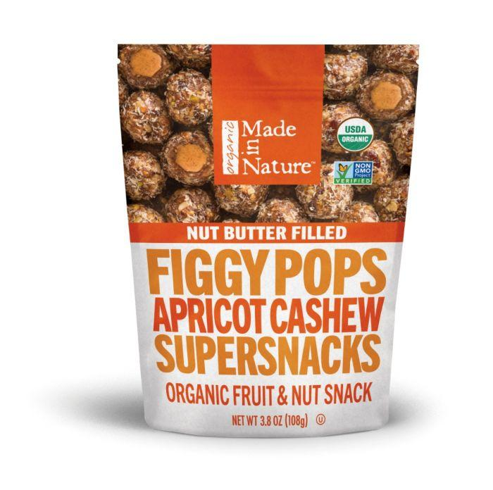 Apricot Cashew Nut Butter Filled Figgy Pops