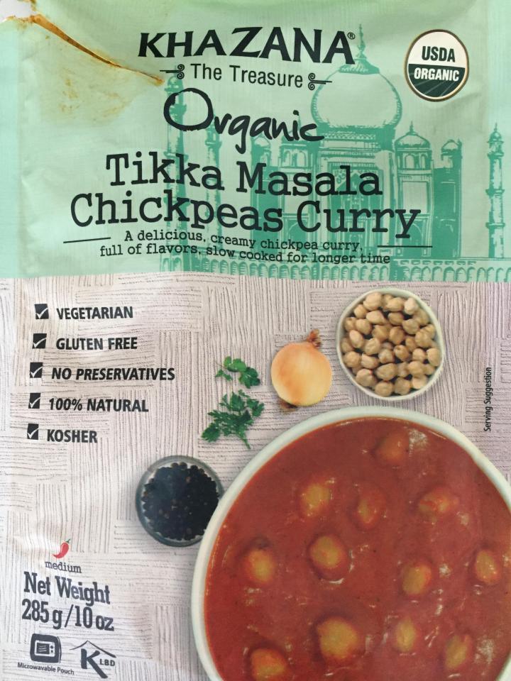 Organic Tikka Masala Chickpeas Curry