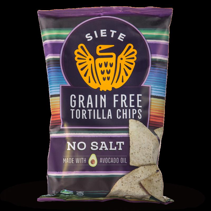 No Salt Grain Free Tortilla Chips