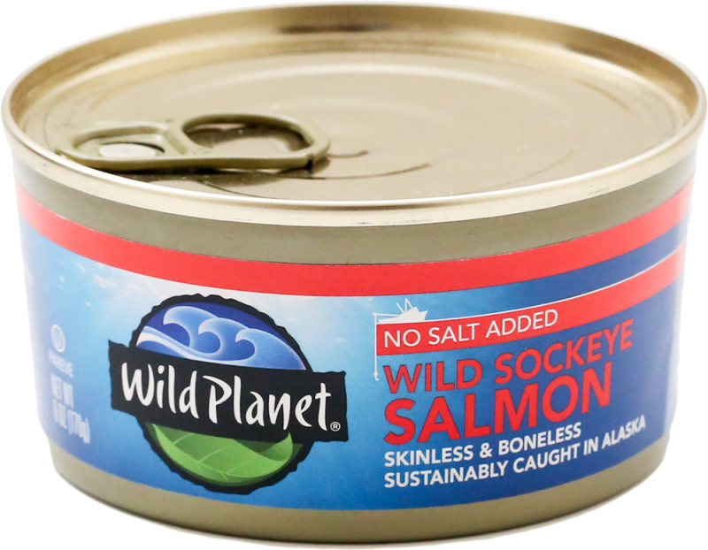 Wild Sockeye Salmon No Salt Added