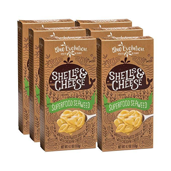 Wheat & Seaweed Shells With Cheddar Cheese