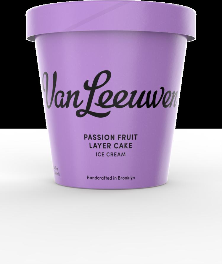 Passion Fruit Layer Cake - Ice Cream