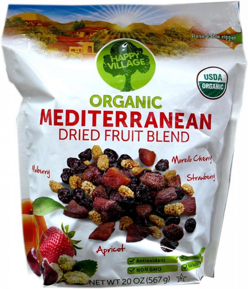 Organic Mediterranean Dried Fruit Blend