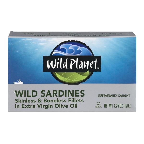 Wild Sardines Skinless & Boneless Fillets In Extra Virgin Olive Oil
